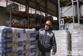 Работа завода по производству сухих строительных смесей «Бергауф Чаусы»