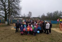 Открытие детской игровой площадки в аг.Устье
