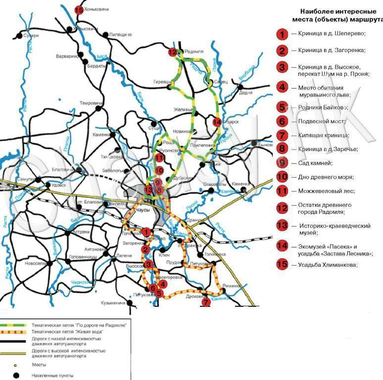 Туристическая карта-схема